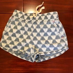 NWT Toddler Shorts with heart prints